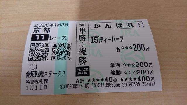 【競馬】淀短距離ステークス・がんばれ馬券