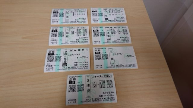 【競馬】購入馬券