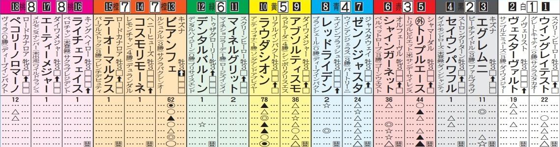 【競馬】出馬表の例